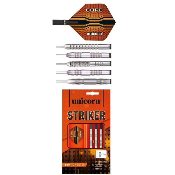 Unicorn Striker 80% Tungsten Darts 16Groves