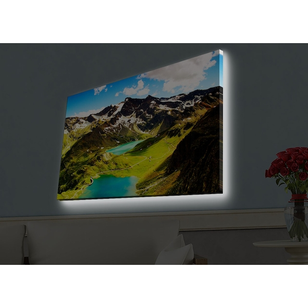 4570HDACT-079 Multicolor Decorative Led Lighted Canvas Painting