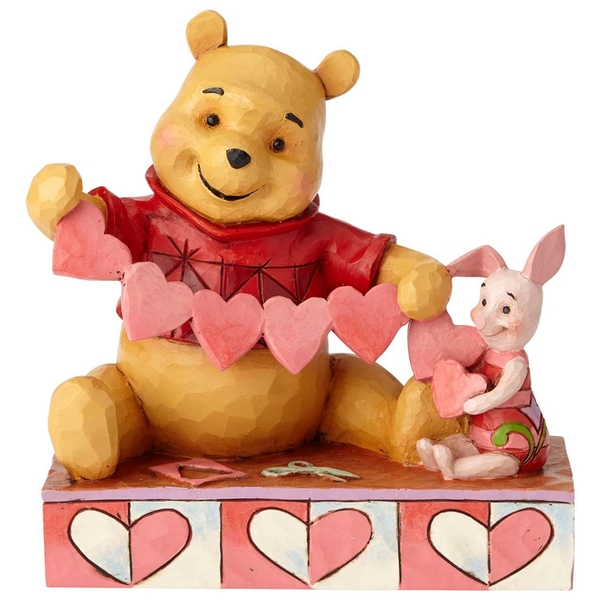 Handmade Valentines (Pooh and Piglet) Disney Traditions Figurine
