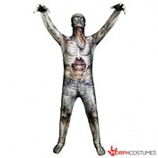 The Zombie Morph Monster Adult Unisex Cosplay Costume Medium Morphsuit