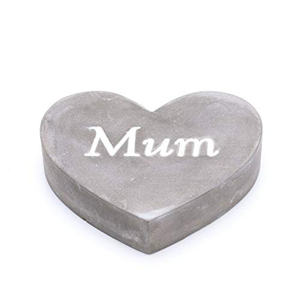 Thoughts Of You Graveside Concrete Heart - Mum