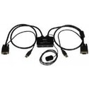 StarTech.com 2 Port USB VGA Cable KVM Switch USB Powered with Remote Switch KVM with VGA Dual Port V
