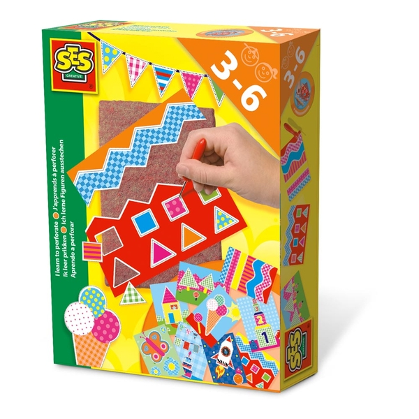 SES Creative - Children's I Learn to Perforate Set (Multi-colour)