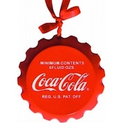 Coca-Cola Wood Crown Christmas Tree Ornament