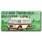 Old Age Travellers Smiley Magnet Pack Of 12