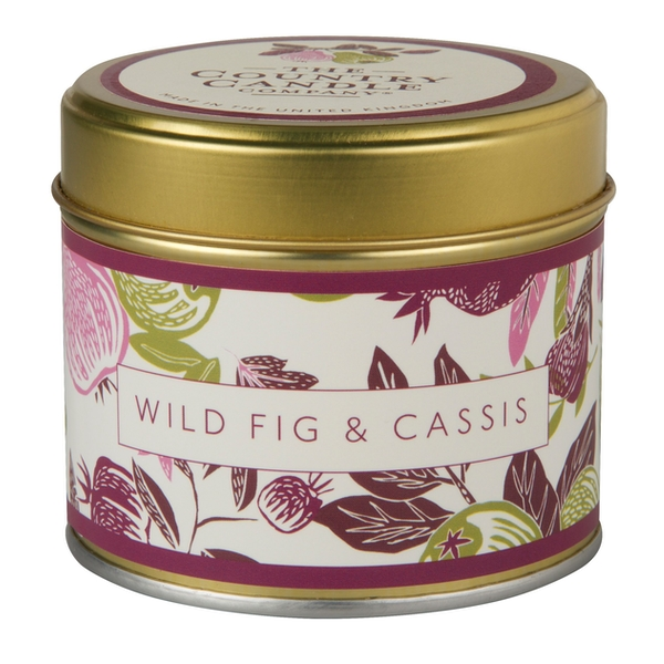 Wild Fig & Cassis (Fragrant Orchard Collection) Gold Tin Candle