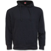 Metall Streetwear Side Pocket Men's Large Hoodie - Black