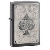 Zippo Black Ice Ace of Spades Windproof Lighter