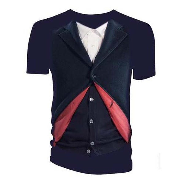 Doctor Who - 12th Doctor Costume Women's Large T-Shirt - Navy Blue