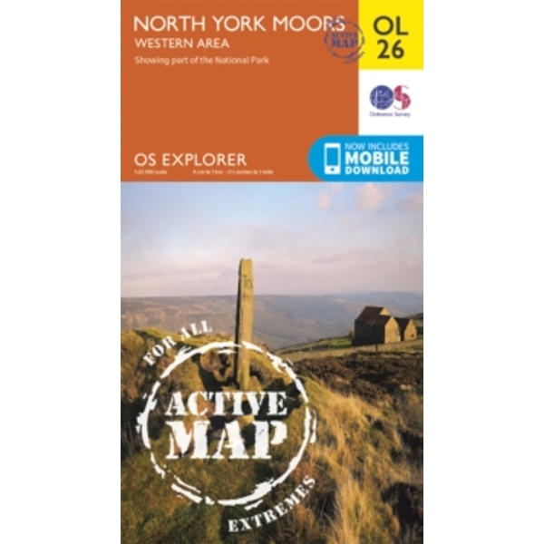 North York Moors - Western Area by Ordnance Survey (Sheet map/Active map, folded, 2015)