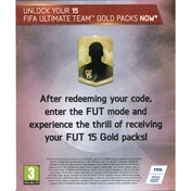 15 FUT Gold Packs for FIFA 15 PSN Digital Download for PS4