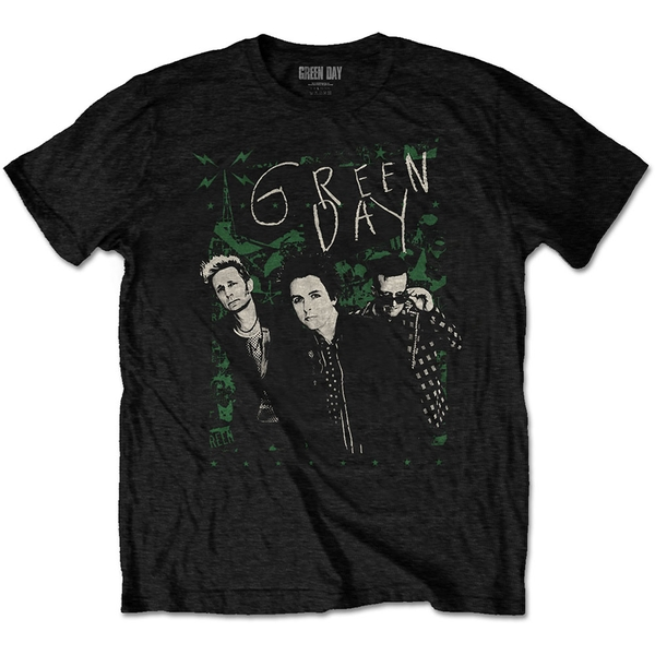 Green Day - Green Lean Men's X-Large T-Shirt - Black