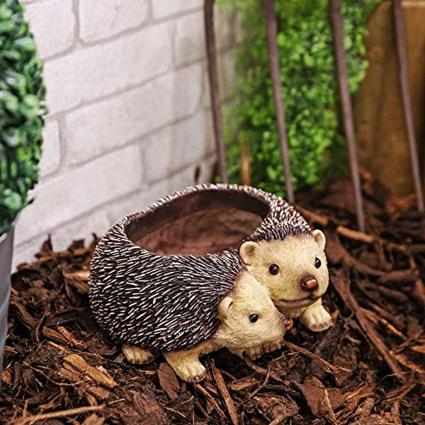 Naturecraft Collection - Pair of Hedgehogs Planter