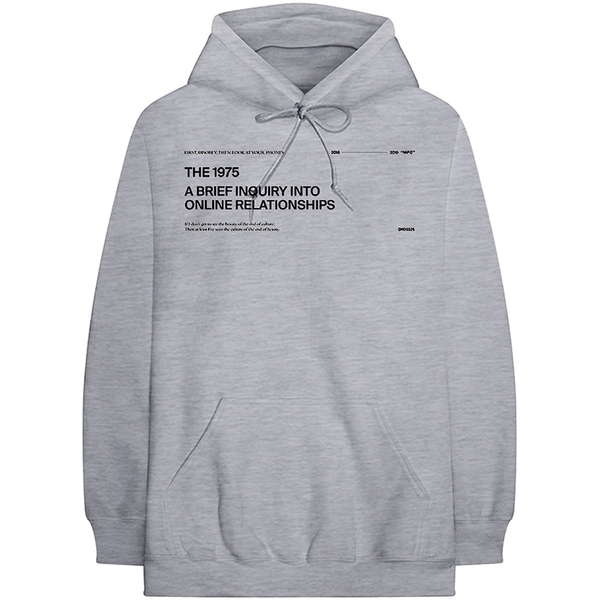 The 1975 - ABIIOR Version 2. Men's Large Pullover Hoodie - Grey