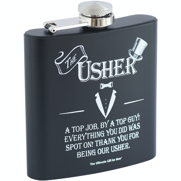Ultimate Gift for Man Hip Flask Usher