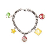Nintendo Super Mario Bros. Characters Metal Twisted Link Chain Charm Bracelet