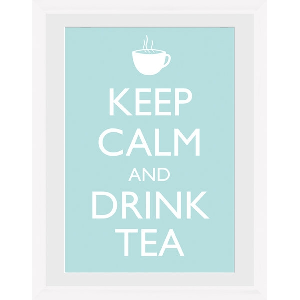 Keep Calm and Drink Tea Framed Photographic Print