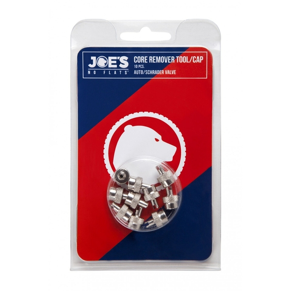 Joe's No Flats 10x PCs Auto Valve Key/Cap
