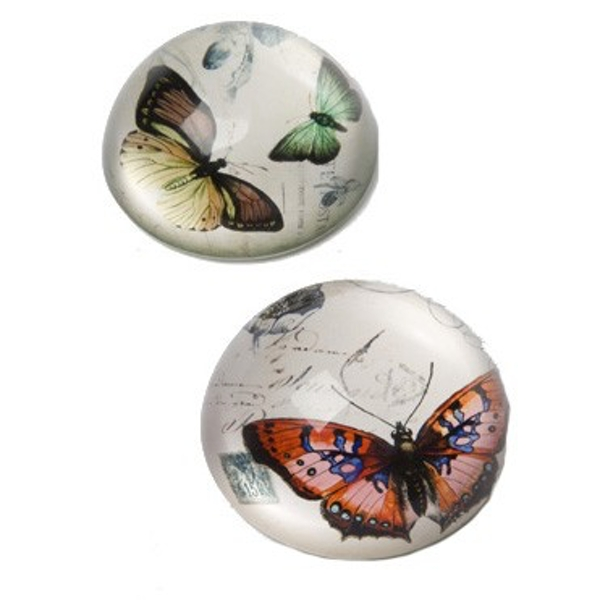 Vintage Glass Butterfly Paperweights (One Random Supplied) by Heaven Sends