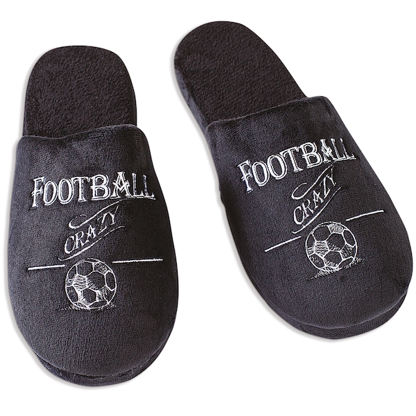Ultimate Gift for Man Slippers Medium UK Size 9-10 Football