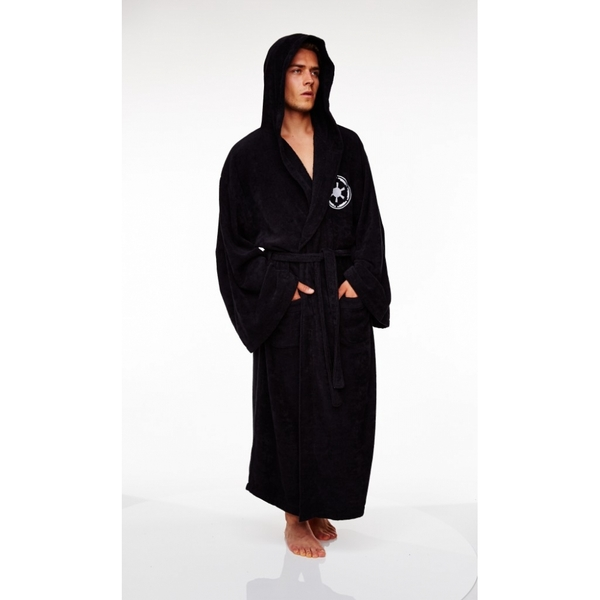 1022f83982 Galactic Empire Star Wars Fleece Robe Black (Adult) - ozgameshop.com
