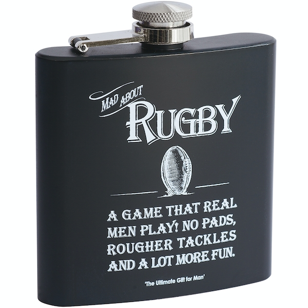Ultimate Gift for Man Hip Flask Rugby