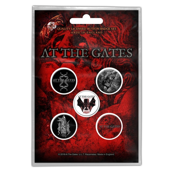 At The Gates - Drink From Night Itself Button Badge Pack