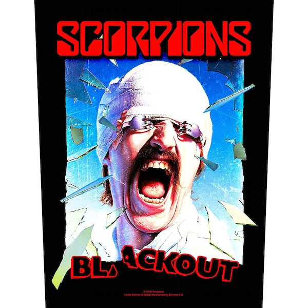Scorpions - Blackout Back Patch