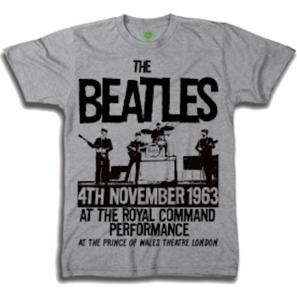 The Beatles Prince of Wales Theatre Boys Grey TS: Large