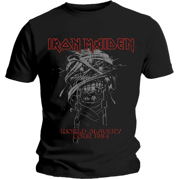 Iron Maiden - World Slavery 1984 Tour Men's XX-Large T-Shirt - Black