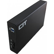 CiT 3.5 inch USB 3.0 SATA Aluminium HDD Enclosure - Black