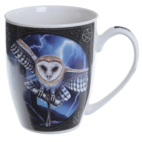 Owl and Lightning Fantasy New Bone China Mug