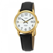Timex T2H291 Mens Easy Reader Watch with Date Black/Gold