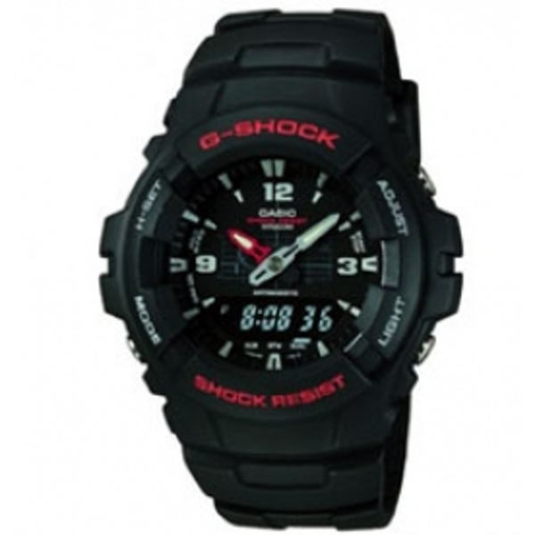 Casio G-Shock G-100-1BVMUR Mens Combi Resin Strap Watch
