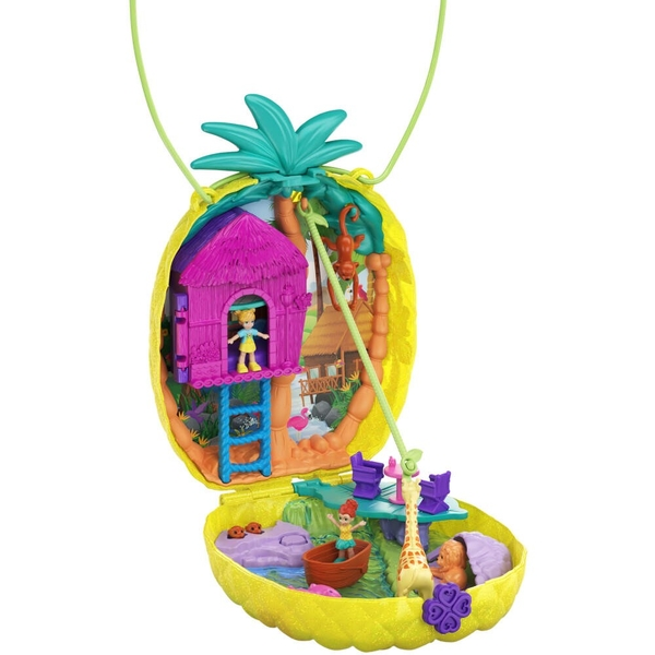 Polly Pocket Cactus Tropicool Pineapple Purse Compact Play Set - Image 1