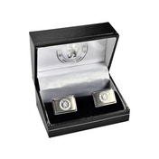 Chelsea Stainless Steel Engraved Oblong Crest Boxed Cufflinks