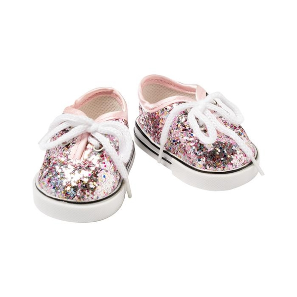 I'm a Girly Rose Gold Glitter Sneakers