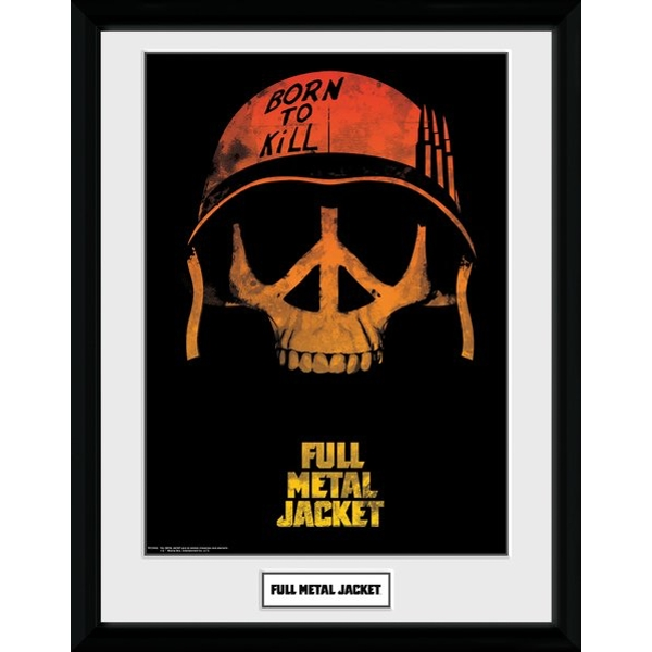 Full Metal Jacket Skull Framed Collector Print