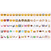 A4 Cinematic Lightbox 170 Emoji/Letters & Free USB Cable M&W Emojis Only (85pc)