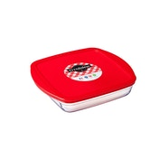 Ocuisine Glass Square Dish with Lid 0.3L