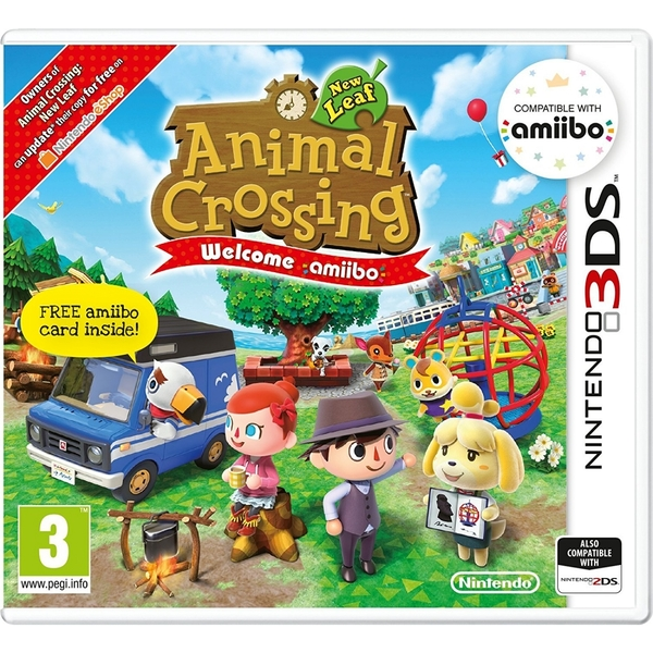 Animal Crossing New Leaf Welcome Amiibo and Card Game 3DS