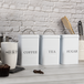 Stainless Steel Tea, Coffee & Sugar Canisters | M&W White - Image 2