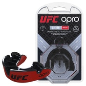 UFC Silver Mouthguard by Opro Red/Black Adult