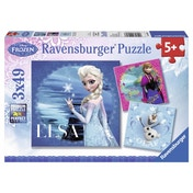 Disney Frozen 3 49 Piece Jigsaw Puzzles