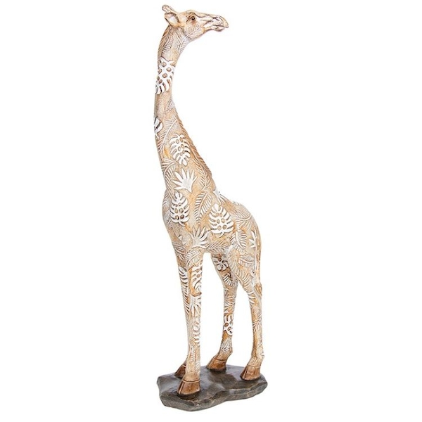 Carved Standing Giraffe Large Ornament