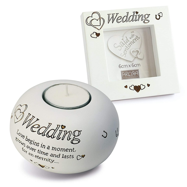Said with Sentiment Frame & Tea Light Holder Gift Sets Wedding