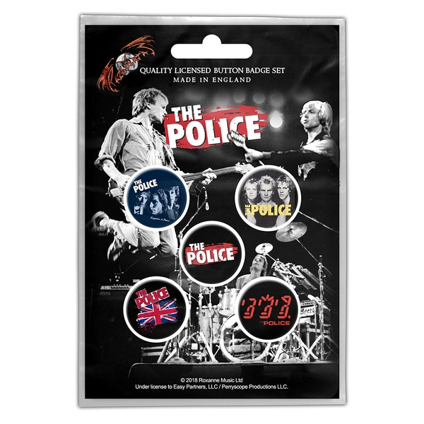 The Police - Various Button Badge Pack