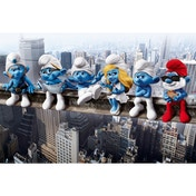 The Smurfs On Girder Maxi Poster