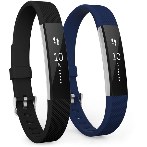Yousave Activity Tracker Strap Black/Blue - Small (2 Pack)