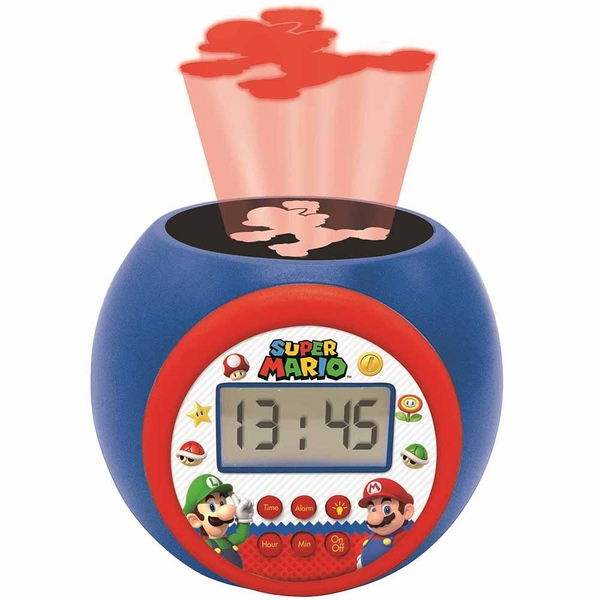 Super Mario Childrens Projector Clock with Timer